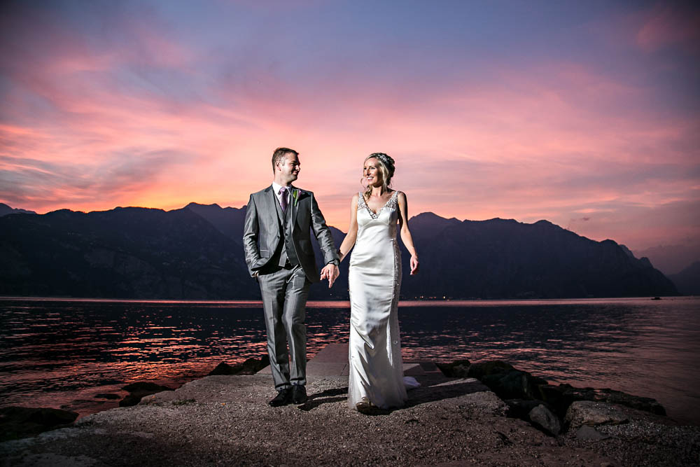romanticweddingsonlakegarda sunset malcesine