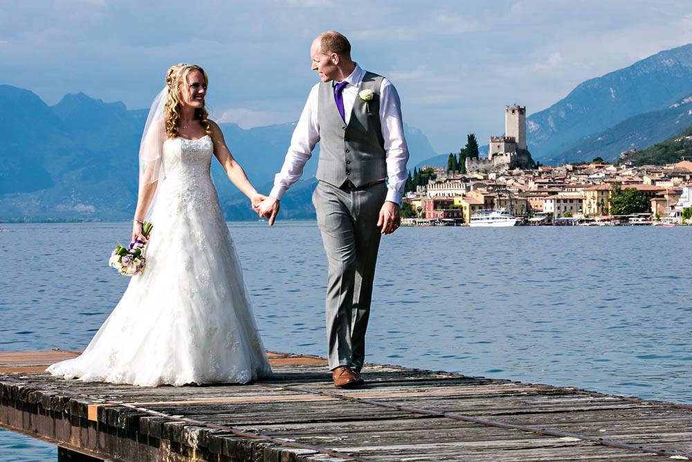 romanticweddingsonlakegarda malcesine jetty